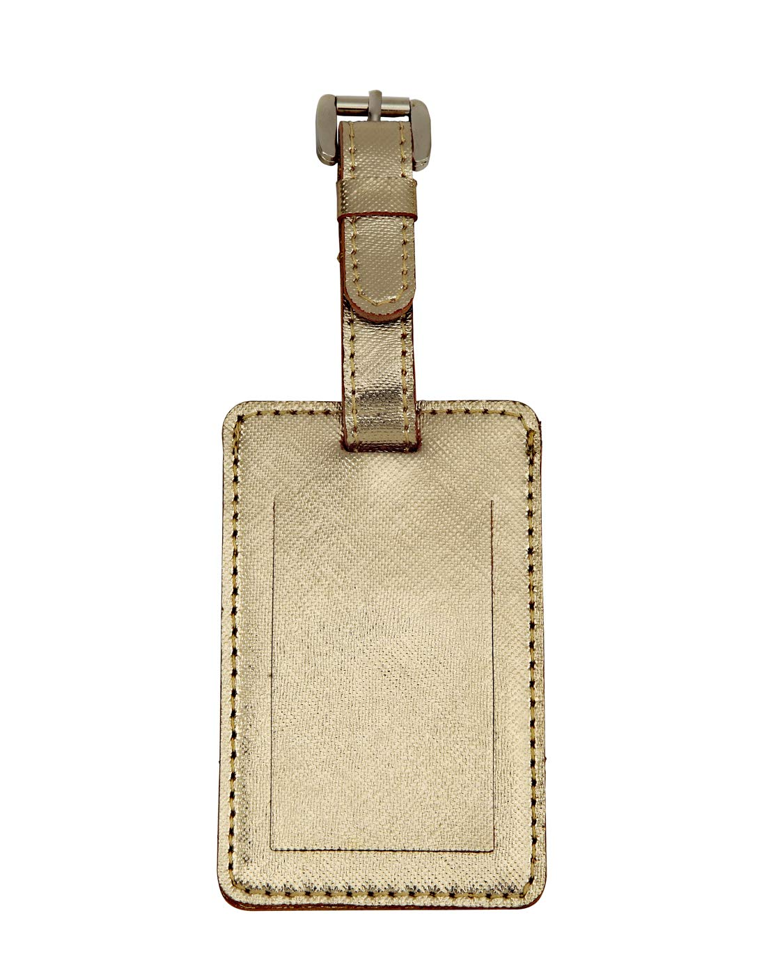 JL Collections Beige Leather Passport Holder with Gold Luggage Tag Gift Sets Pack of 3