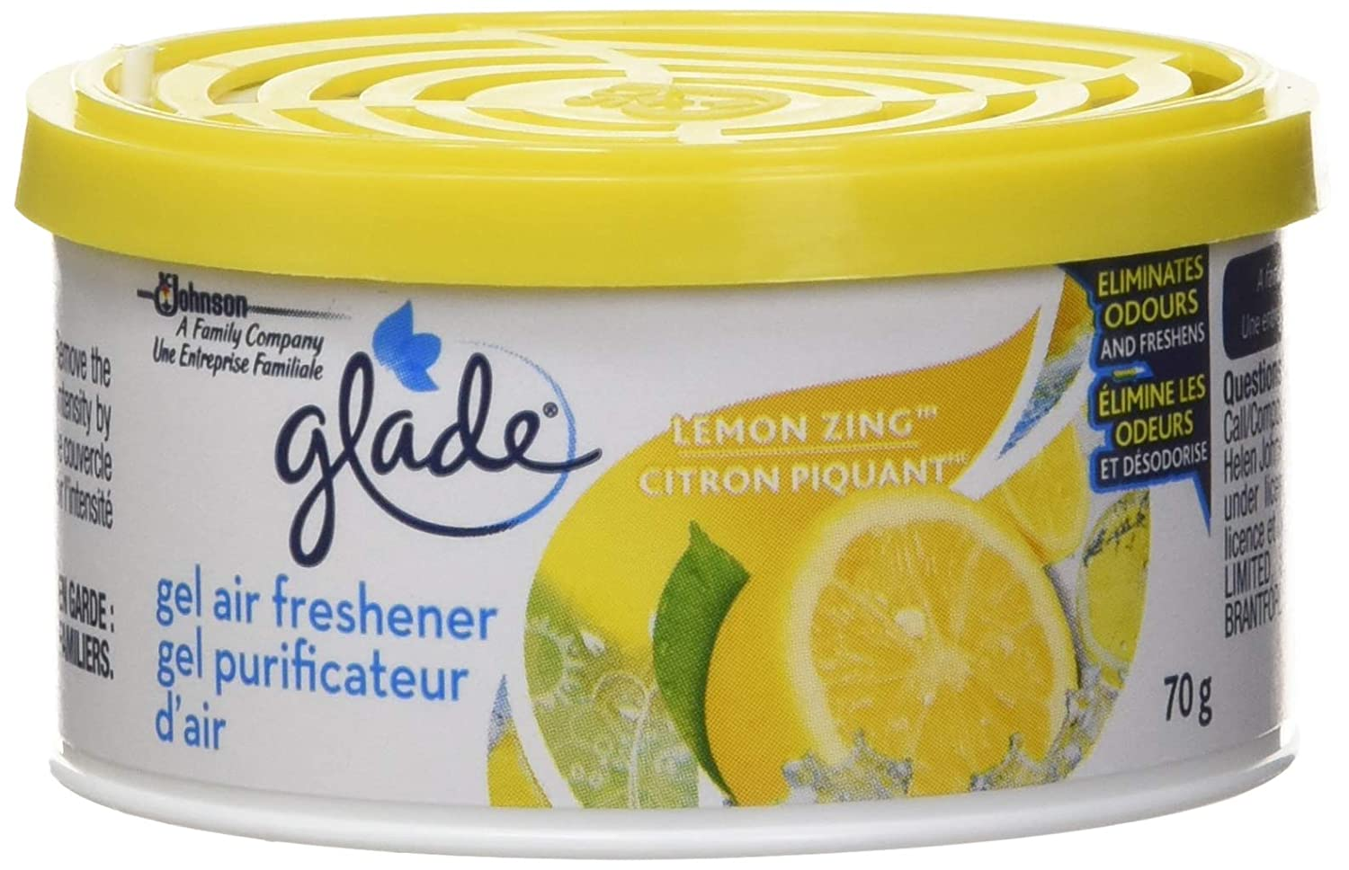Glade Mini Gel Air Freshener, Lemon Zing - 2100 Grams (Pack of 30) SC Johnson 688269