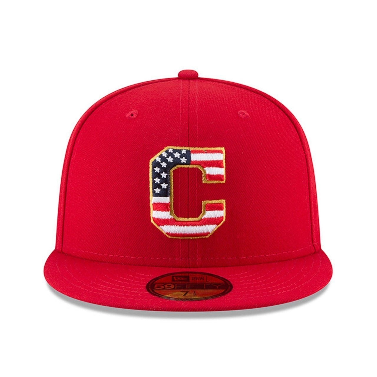 online store bbd34 4ceee Amazon.com  New Era Cleveland Indians 2018 July 4th Stars and Stripes  59FIFTY On Field Fitted Hat  Clothing