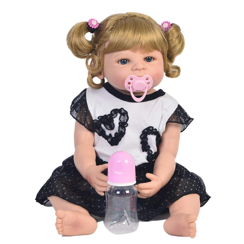 Bambole Del Bambino 57 Centimetri Reborn Baby Real Touch Morbido Silicone Handmade Reborn Lovely Vinyl Neonato Ragazza Babies Toy 55  25  15cm