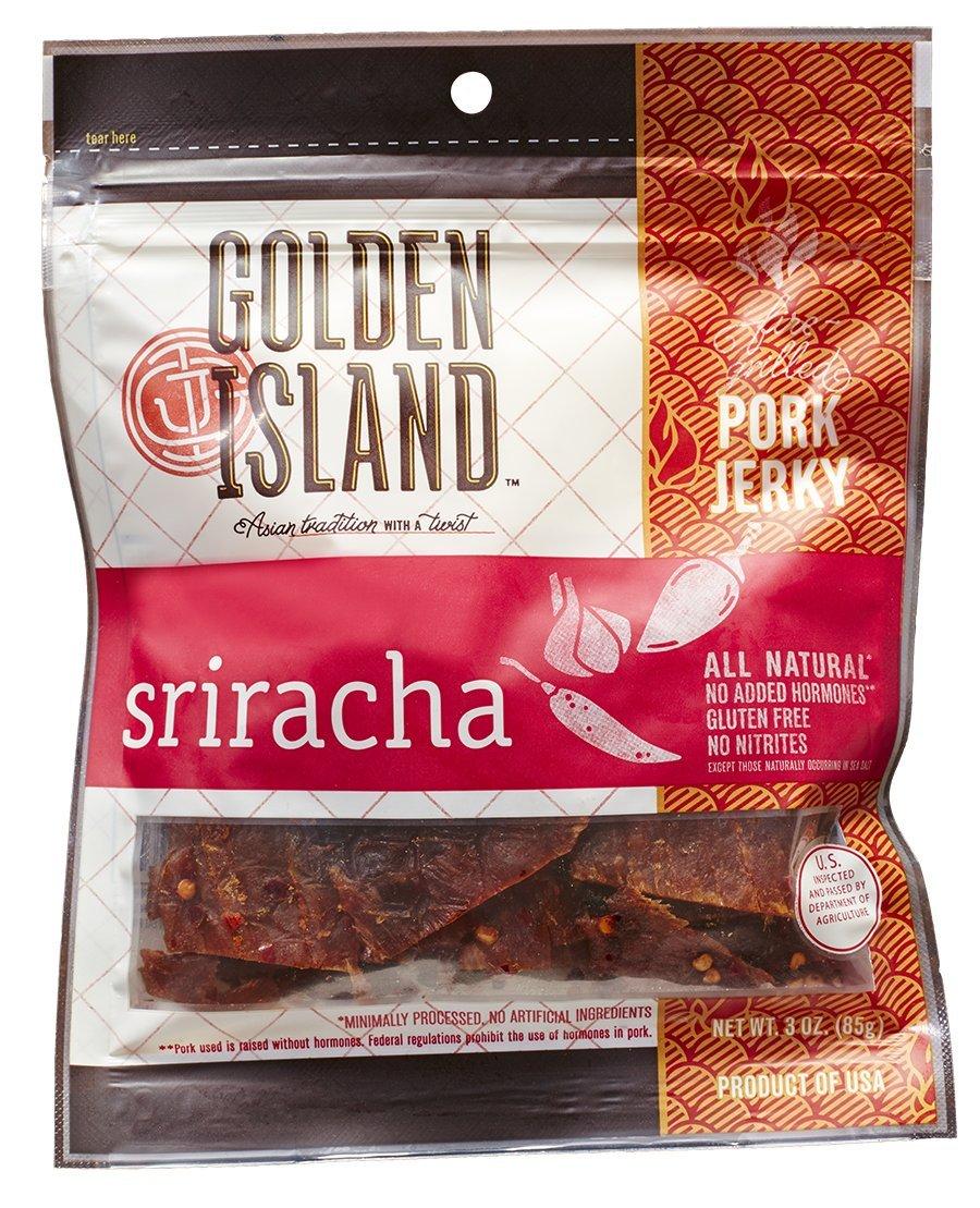 Golden Island Sriracha Pork Jerky, 3 oz.