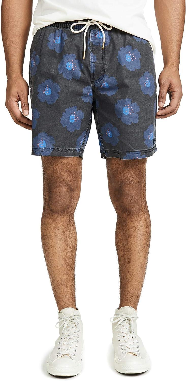Barney Cools Mens Black Hibiscus Amphibious 17 Shorts