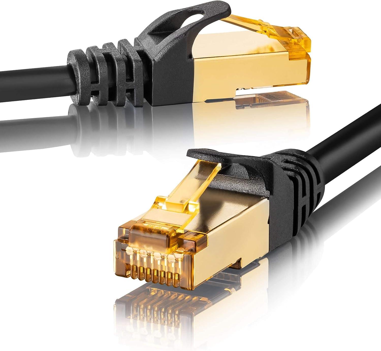 Sebson 2x Lan Kabel 1m Cat 7 Rund Netzwerkabel 10 Gbit Elektronik