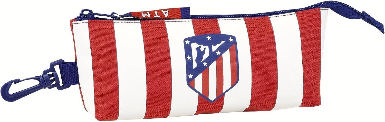 Safta Estuche grande Atlético De Madrid Oficial Triangular Ovalado 200x50x85mm: Amazon.es: Juguetes y juegos