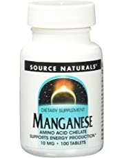 Source Naturals Manganese Chelate 15mg elemental, 100 Tablets (Pack of 2)