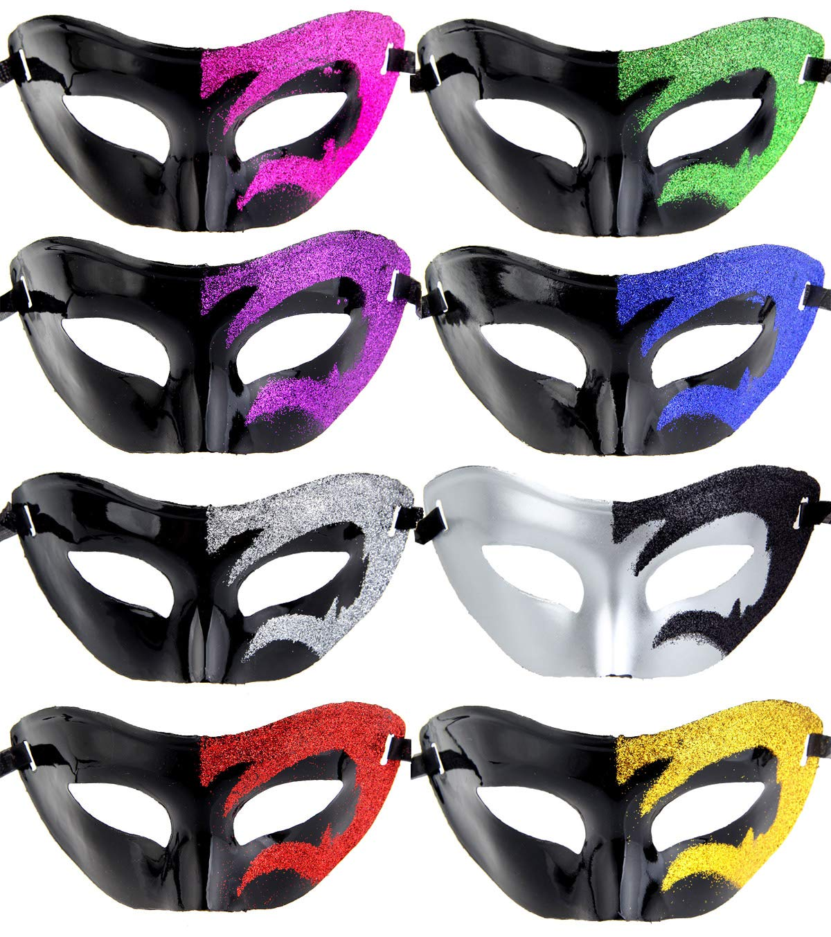 12pcs Set Evening Prom Venetian Masquerade Masks Costumes Party Accessory