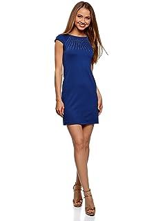oodji Ultra Mujer Jersey de Tejido Texturizado con Acabado de Piel ... 6ee844a6a244
