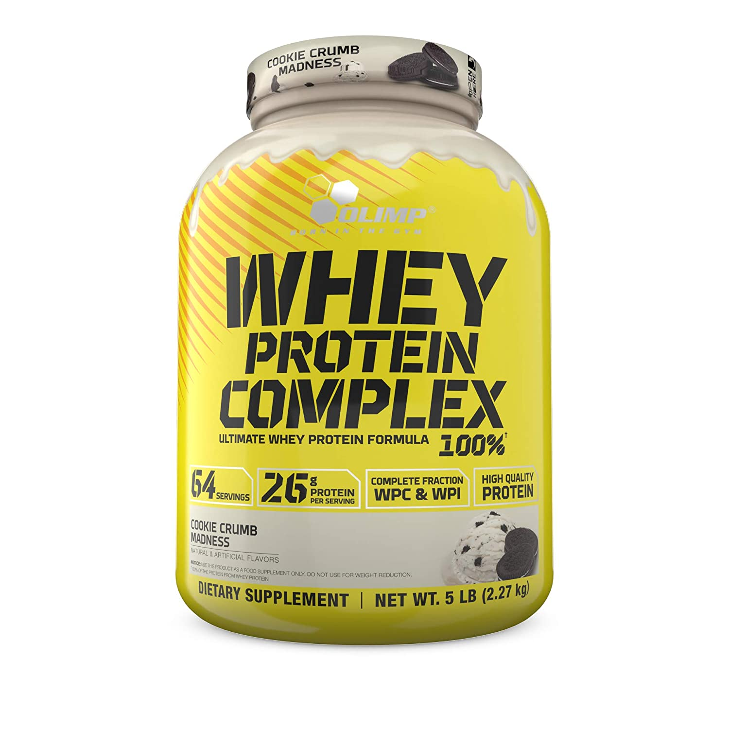 Olimp Whey Protein Complex 100 Powder – Pack of 5 lb – 64 Servings – Cookie Crumb Madness – Amino Acids – Mass Building – Perfect for Cocktails, Smoothies