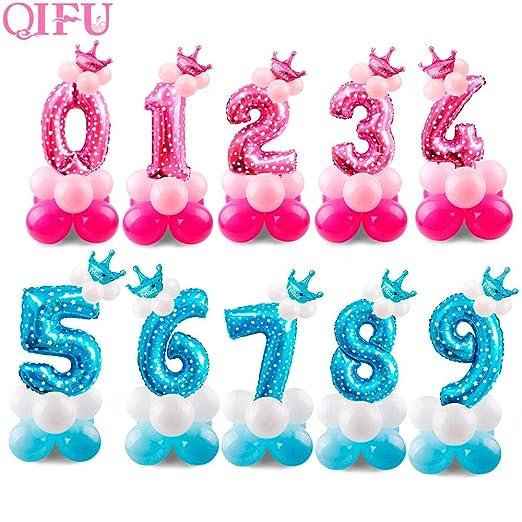 Tyro QIFU - Globos de Aluminio para cumpleaños (17 Unidades ...