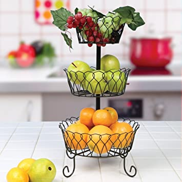 Amazon.com: 3-Tier Wire Basket: Home & Kitchen