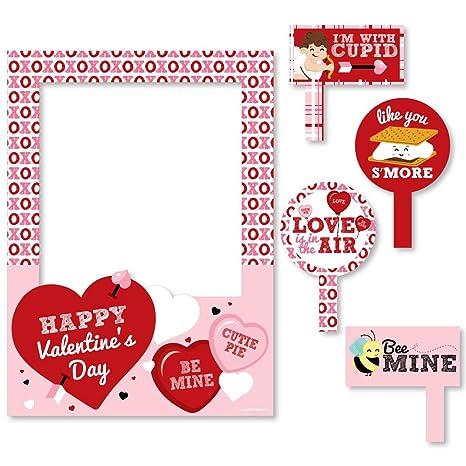 Amazon.com: Big Dot of Happiness Conversation Hearts - Valentine\'s ...