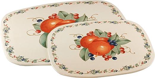 Corelle Coordinates Reston Lloyd Trivets Hot Plate My Garden Pattern Melamine