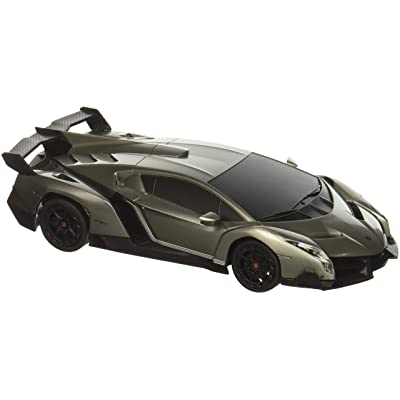 RW 1/24 Scale Lamborghini Veneno Car Radio Remote Control Sport Racing Car RC,Silver: Toys & Games