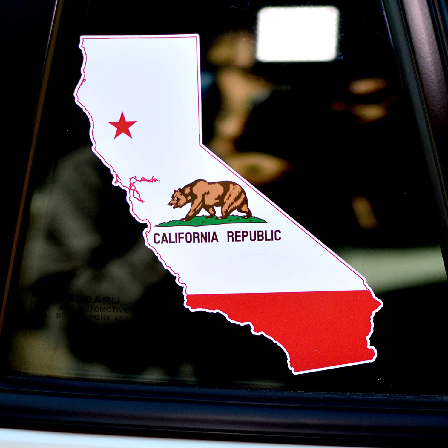 Byzee California Sticker State Flag Decal - Car/Laptop Bear Quality Graphic