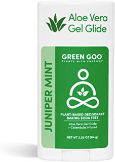 product image for Green Goo Natural Deodorant Gel for Men and Women, Juniper & Mint, Oval, 2.25 Ounce