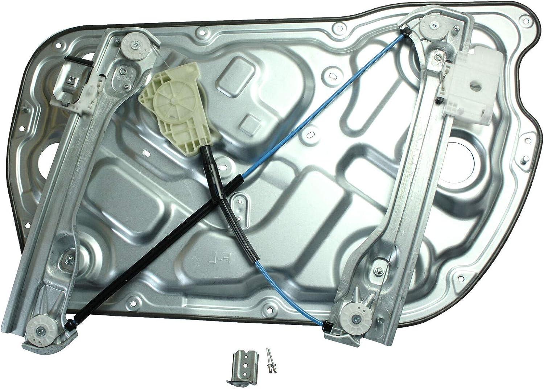 LOSTAR Front Power Window Regulator Left Driver Side Door Fits 2010 2011 2012 2013 2014 2015 2016 Hyundai Genesis Coupe 2.0L 3.8L 82471-2M000 749-352