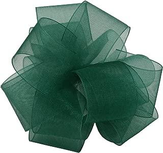 "product image for Offray Berwick LLC 427019 Berwick Simply Sheer Asiana Ribbon -1-1/2"" W X 25 yd - Hunter Ribbon"