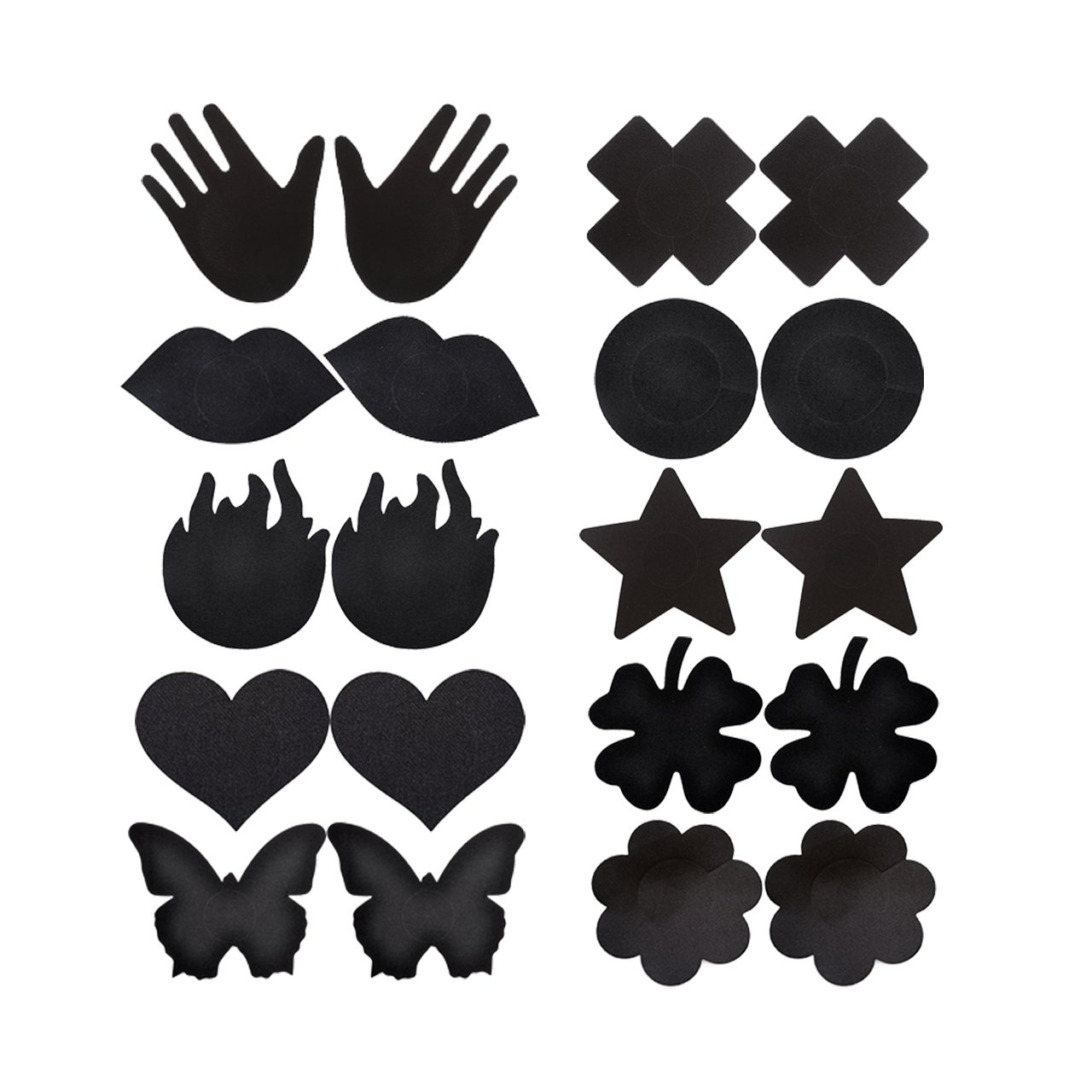 CHIC DIARY Sexy Nipple Cover Satin Pasties Disposable Adhesive Breast Petals Multi Design