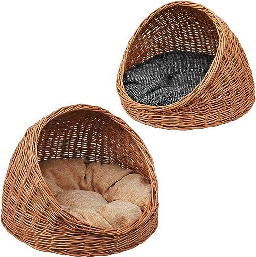 2 – 9 de 5 GalaDis gato cueva de mimbre con cojín Reversible/Gato Cesta/Gato cama, tanto para gatos como pequeños perros: Amazon.es: Productos para mascotas