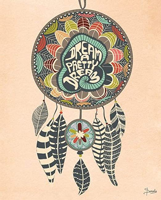 28 by 35-Inch Wheatpaste Art Collective Dream a Pretty Dream by Susana Parada Posters That Stick Wall Decal