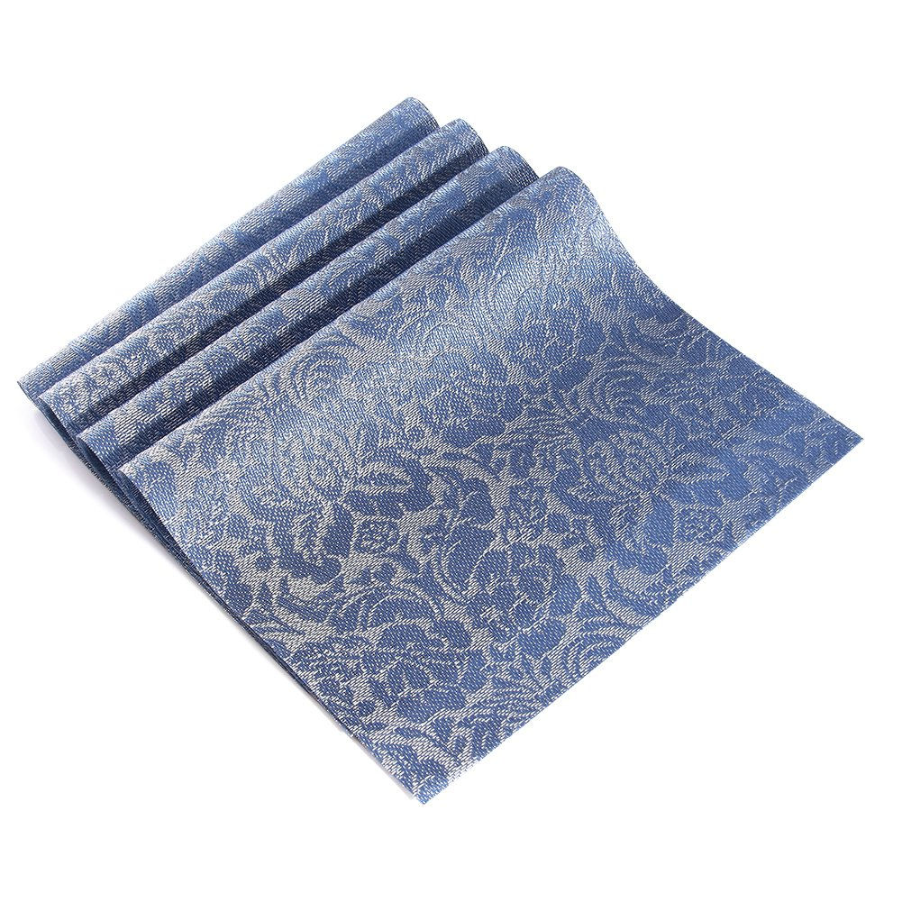 Dining Room Table Placemats: Placemats,Heat-resistant Non-slip Woven Vinyl Placemats