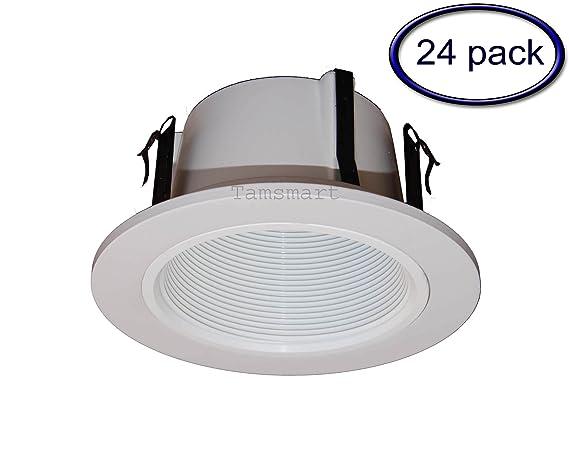 4 inch recessed lighting lithonia 24 pack4 inch phenolic stepped baffle trim for recessed lightingwhite lighting