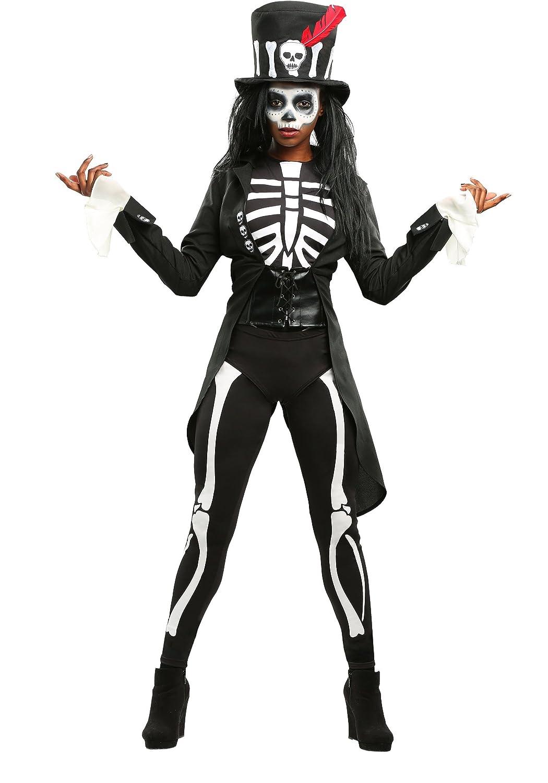 Plus Größe Damens's Voodoo Skeleton Fancy Dress Costume 4X
