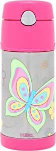 Thermos FUNtainer Insulated Drink Bottle, 355ml, Butterfly, F400BK
