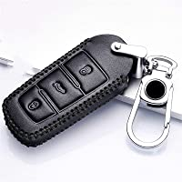 QifawU lederen autosleutel beschermhoes? voor Volkswagen VW CC Passat B6 B7 Passat 3C CC Maogotan R36 B5 B7L Auto Key…