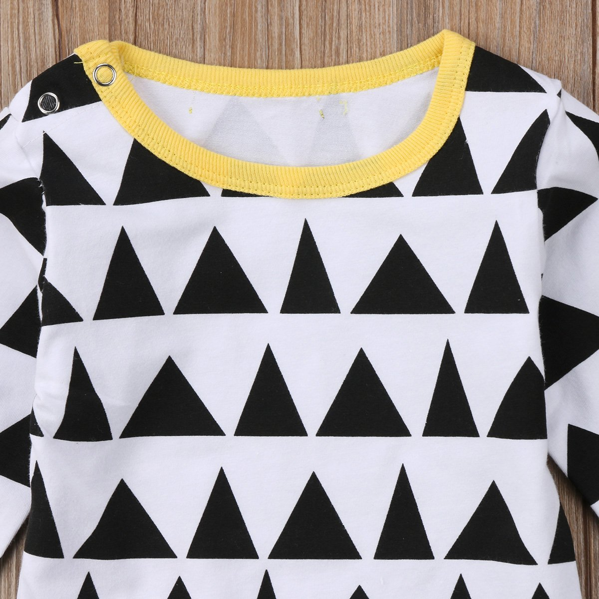 Annvivi Toddler Baby Boys Girls Cotton Romper Long Sleeve Triangles Jumpsuit