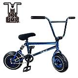 Mini BMX Freestyle bicicleta – luz con manivela de – Juego de 3 neumáticos de grasa y la primavera de accesorios para Pro para principiantes – Estos Bad Boy bicicletas son ideal para STUNT truco & Racing (azul Splash) por Ride 858