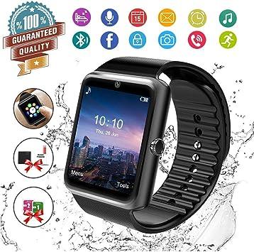Reloj Inteligente, Hombre Smartwatch Hombre con Cámara Pantalla ...