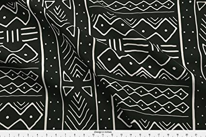 Amazon Com Spoonflower African Fabric African Mudcloth Black
