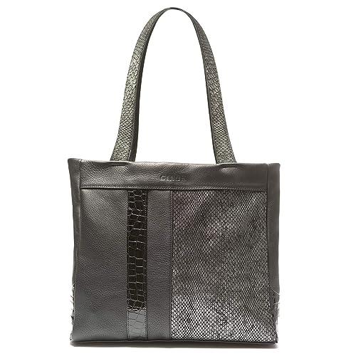 Bolso de mano y hombro de mujer Ginok marca española,hecho