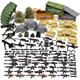 Feleph Military Army Toy Guns, Soldier Weapons Armor Building Blocks Bricks, Gear Battle Accessories Pack, for WW2 SWAT…