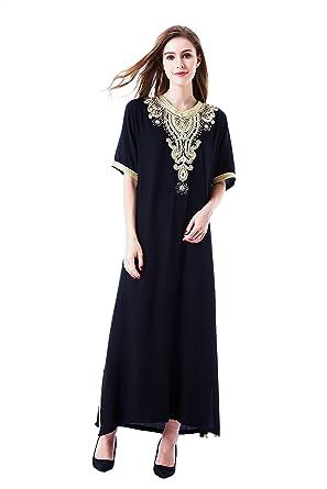 vetement femme musulmane   muslima abaya robe islamique Caftan brodé  jalabiya rayonne dubai maxi dress longue c3dc4b2b858
