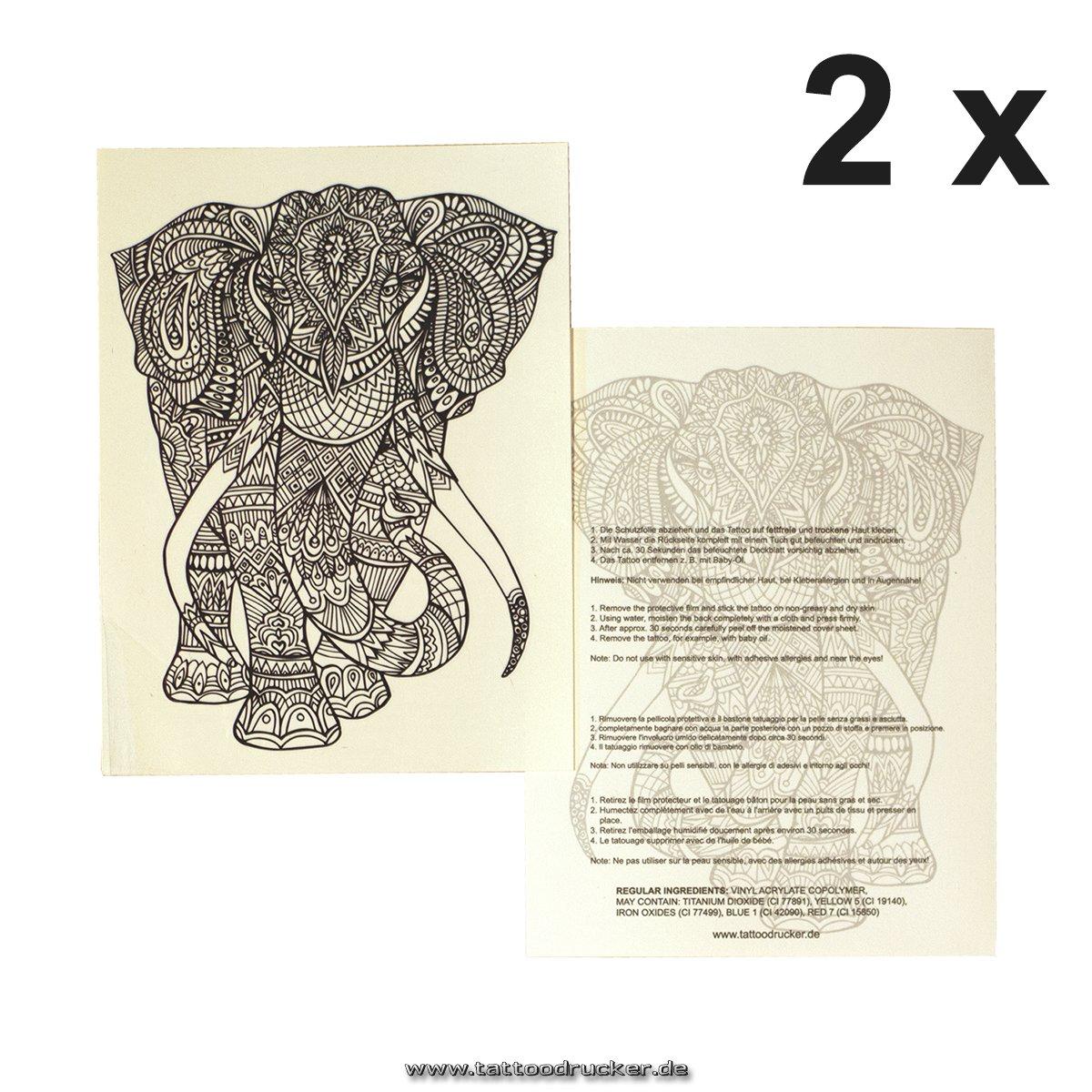 Elefante Mandala Tattoo – buddhistisches Símbolo – África Diseño ...