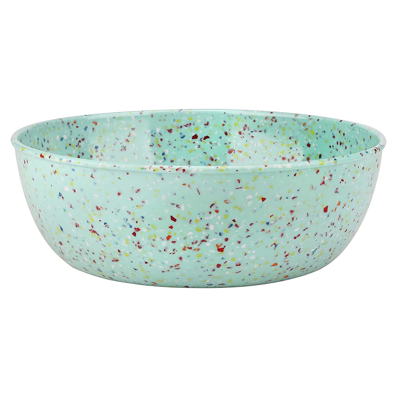 Zak Designs 0015-Q011 Konfetti Servierschalen 10 Inch Low Serve Bowl mint