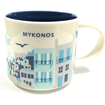 Starbucks You Are Here YAH City Mug - Mykonos, Greece.