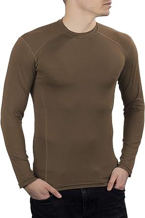281Z Camisa militar para hombre que absorbe la humedad – Profesional del ejército – Polartec Delta – Cool Touch (marrón coyote)