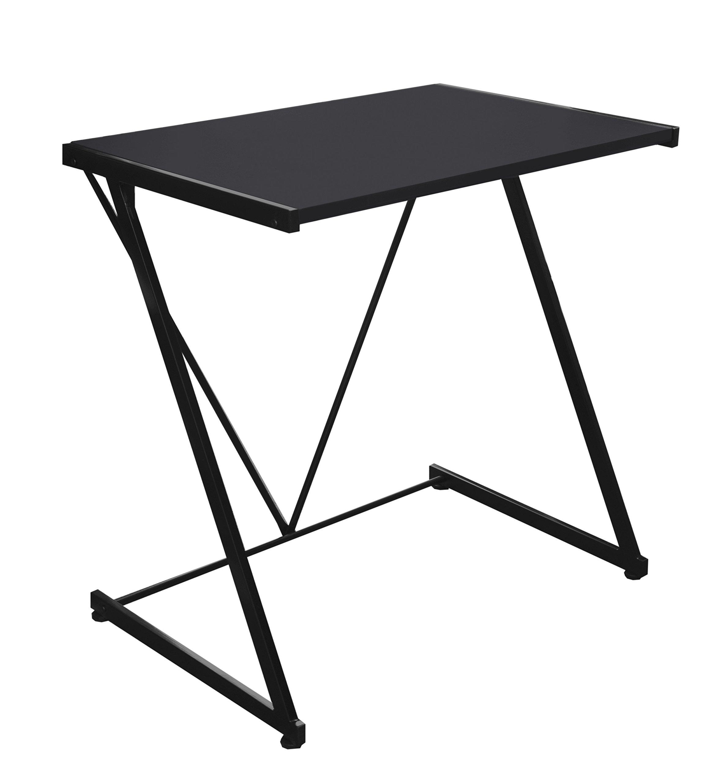 Urban Shop Z-Shaped Student Desk, Black