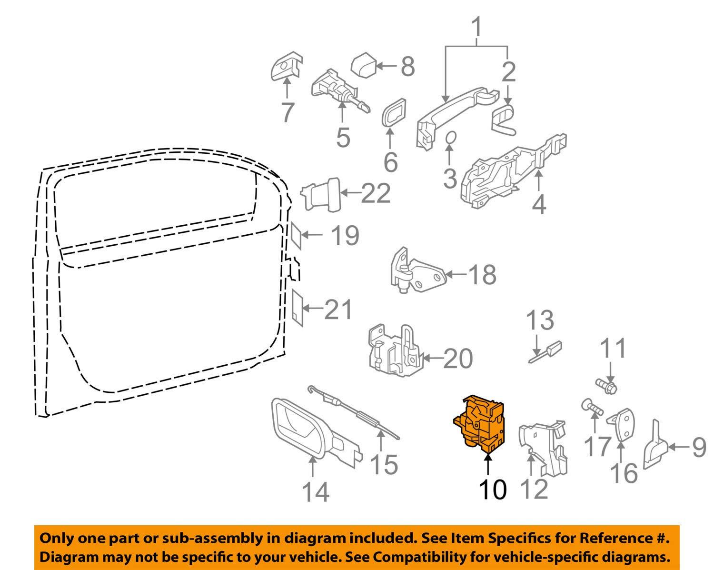 OE Volkswagen VW DOOR LOCK ACTUATOR MECHANISM FRONT RIGHT 3B1837016CG New