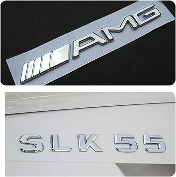 Mercedes Benz Slk 55 Amg Logo Badge Emblem Cl Sl Ml Bc Truck Lip Grill Passend Für Slk55 Amg Auto
