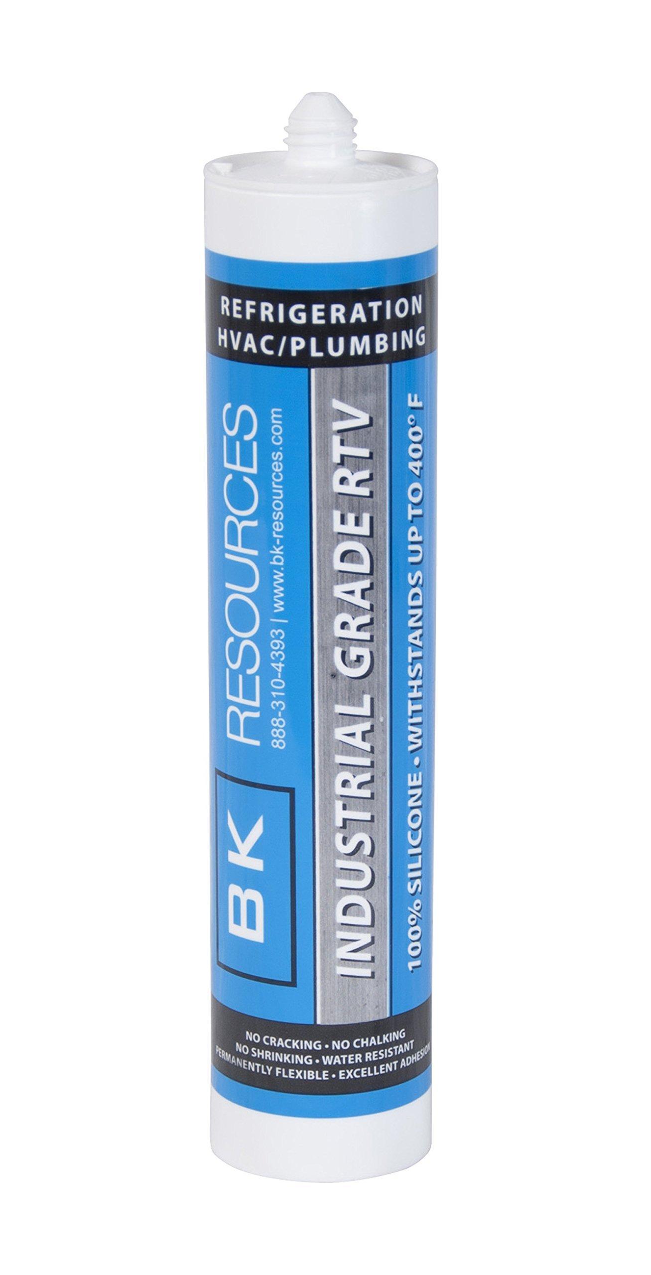 BK Resources BK-SC-CL Clear Silicone Caulking 10 Oz. Tube