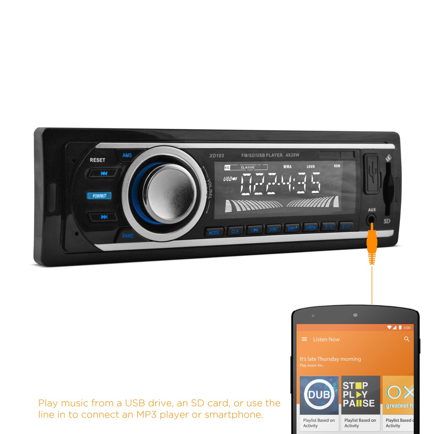 Amazon.com: XO Vision FM and MP3 Car Stereo Receiver with Bluetooth, USB  Port and SD Card Slot: Car Electronics