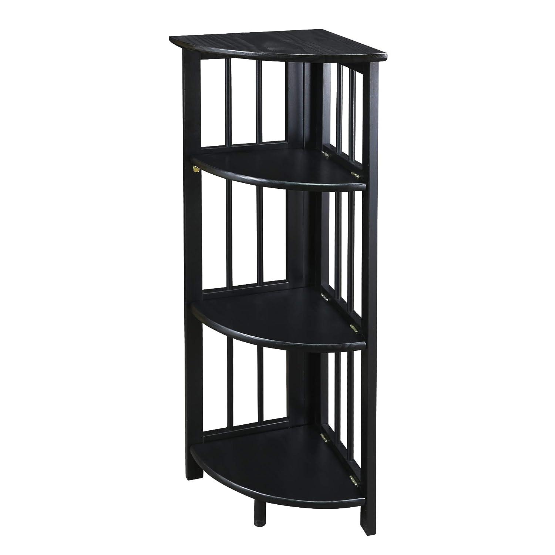 Casual Home Corner Folding Bookcase, Black