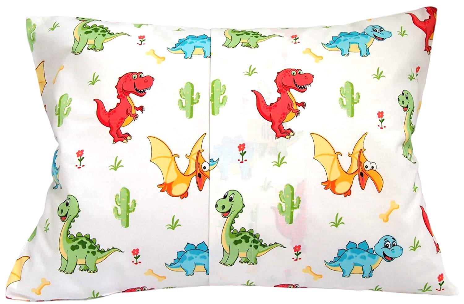 100/% Cotton Horses Toy with Blue Kids Toddler Pillowcase 13x18 by Comfy Turtles or Get Your Kid/'s Smile with Cute Animals of This Soft Pillow Cover for Boys and Girls
