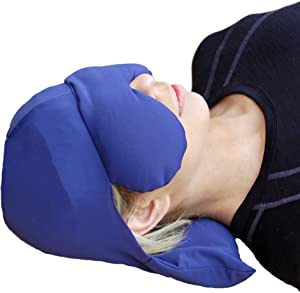 Sinus Pressure & Migraine Headache Relief Cap and Eye Mask - Deep Penetrating Herbal Ice hat for Hot or Cold Sinus Pain Relief