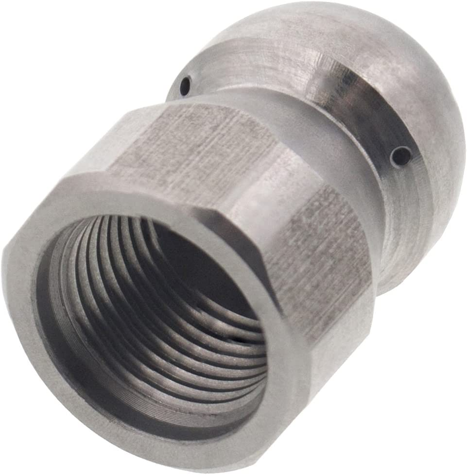 """Erie Tools Button Nose 3//8/"""" Sewer Jetter Drain Cleaning Nozzle 10.5 Orifice Size"""