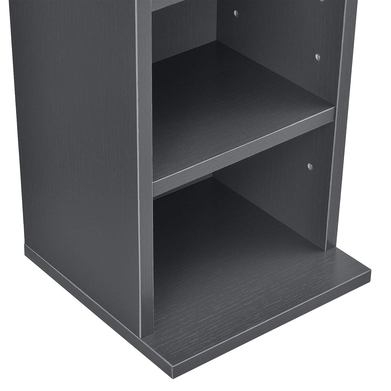 Estante para CDs Soporte para DVDs 90 x 20 x 20 cm Librer/ía con 6 compartimientos Blanco en.casa /®